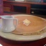 this HUGE pancake was just one dollar on the side!