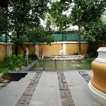 Part of the courtyard, with pool