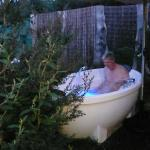 Your own outdoor hot tub, very utopian
