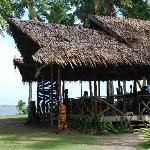Restaurant overlooking the beach