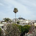 view from our balcony toward Coit tower
