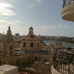 View from our room to Sliema