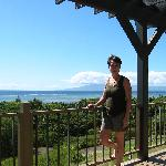 I loved the view from the lanai at Hilltop Cottage.