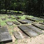 Tombstones, many of which have been moved from their original location