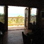 the view from the kitchen