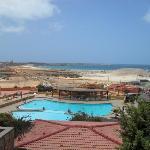panorama e piscina vista dalla mia camera