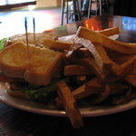 Celtic Club Sandwich with a Massive Serving of Hand-cut Fries