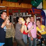 Karaoke after the Bar-B-Q night