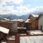 a view from the Panorama restaourant to the ski pistes