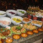 Fabulous food, extensive choice