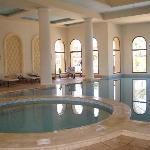 Indoor heated pool , gym massage and sauna