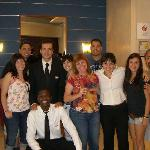 Our group with the staff from the hotel