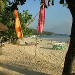 Beach outside resort