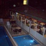 Restaurant und Bar vom Balkon aus