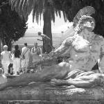 Achillies heel statue