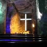 This is the main hall in the Salt Cathedral of Zipaquira, which is a town about 1.5hours bus rid