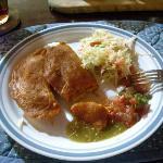 Nicaraguan enchiladas prepared by Nica cook, Katy