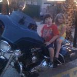 William and Kylie on the Harley
