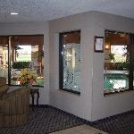 Enclosed pool and jacuzzi area. Open 8am-10pm.