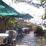 The courtyard as the Hotel Berti