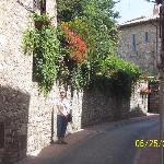 A charming street in Assisi