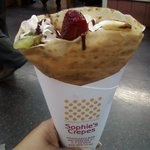 Mixed Fruit Crepe With Chocolate Syrup