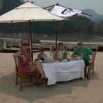 Lunch on the Mekong river