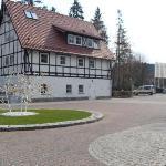 Hotel buildings.