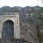 Gates of old fort on Fish Hill