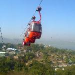 Cable car from Deen Dayal Park to top of Fish Hill