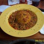 Salmorejo juey (crab & plantain mofungo)