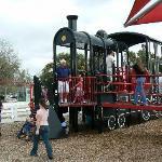 playground with train