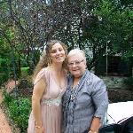 Sarah and Nan at guest house