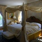 Honeymoon bedroom (I wish we had taken a photo of it before we slept in it)