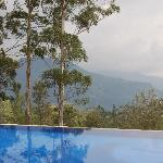 swimming pool and view to the hills