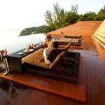 Dining on the Infinity Pool