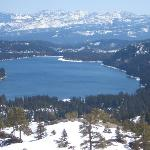 Beautiful Donner Lake near the hotel on the way to Sugar Bowl