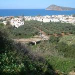 utsikt från restaurang Astrea Old village Platanias mkt trevlig restaurang fråga efter Gorgen