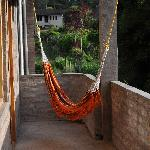 the hammock on our balcony