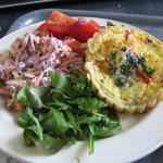 Mushroom tarte and salads