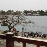 The view of Hamilton harbor from Silk's balcony