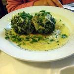 Spinah dumplings