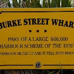 Burke St Wharf Sign Thames NZ