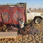 si dorme all'aperto nel deserto bianco
