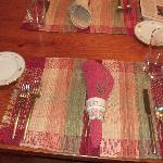 Table Setting w/personalized touches