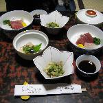 Kaiseki dinner: 1st course