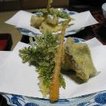 Kaiseki dinner: 2nd course tempura