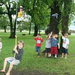 6 Year old piñata bashing