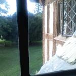 View out of our bedroom window in the King Alfred Suite
