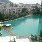 view from hotel room / swimming pool